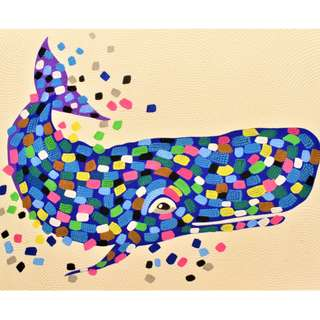 Happy Whale Painting (90cm x 70cm)