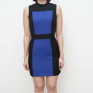 Pomelo - Zadria Two Tone Sheath Dress - Size S