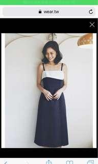 Marjorie  LADY午茶 復古洋裝 藍色s