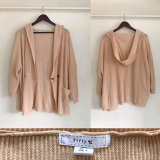 Fifty % Peach Knitted Cardigan