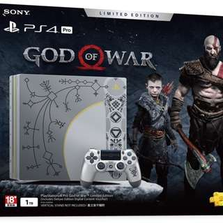 PS4 Pro 1TB God Of War Limited Edition Console