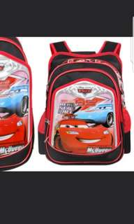 In stock Disney Pixar McQueen school bag for boys size 29.5 × 14 × 41cm