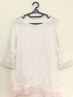 Details white blouse