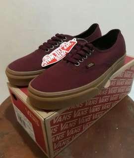 Vans Merah Maroon Premium
