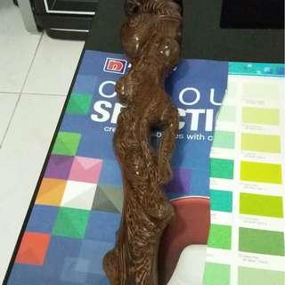 Hard Wood chicken wing Crutch for sell , 罕见拐杖鸡翅木,一整枝原料木雕刻