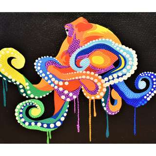 Giant Octopus Painting (90cm x 70cm)