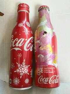 絕版 原封 日本版 舊版 可口可樂 鋁樽 送2003年 西班牙版