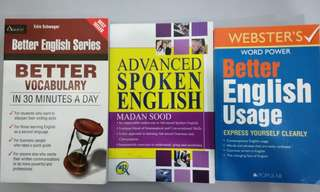 3 English books for 1 price (Condition: All New)