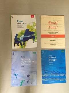 Piano abrsm grade 3 books