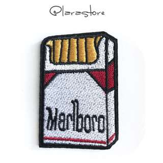 Bn iron on patch cigarette