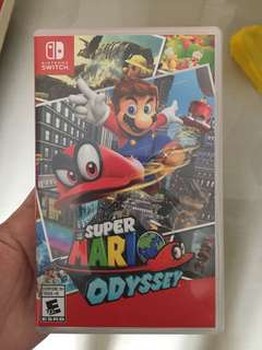 Super Mario Odessey switch game
