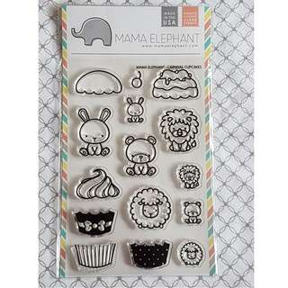 Mama Elephant Cupcake Carnival Clear Stamp