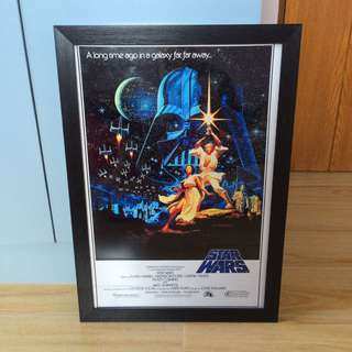 STAR WARS EPISODE IV FRAMED MOVIE POSTER