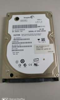 "Seagate 2.5"" 80gb hard disk"
