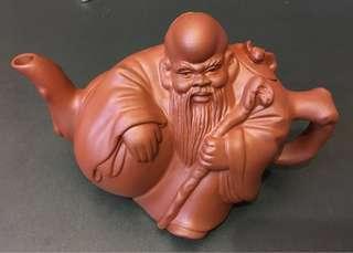 壽星公紫砂茶壺