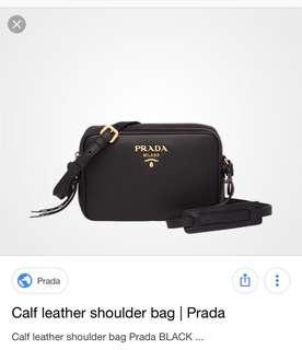 WTB Prada calf shoulder bag