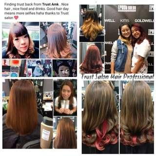 Senior Stylist Hair cut,Rebonding,Digital perm,Loreal hair color, highlight,ombre services etc. Loreal colour for short hair @ $58.