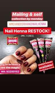Nail Henna RESTOCK! By Mehandi Srikandi