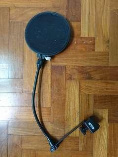 CAD microphone pop filter