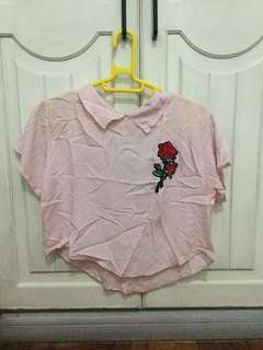 Embroided Rose Top