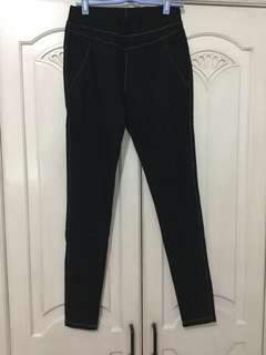 High Waist Black Pants