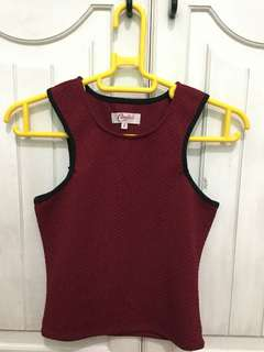 Candy Maroon Crop Top