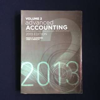 Advance Accounting by Guerrero Vol 2