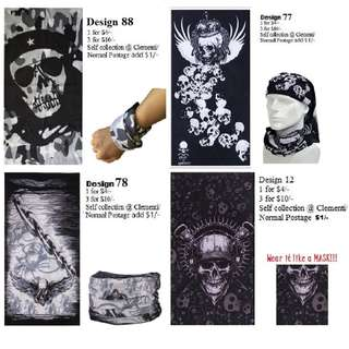 New Design Bandana: 1 for $4/- and 3 for $10/- (Many other cool designs available)
