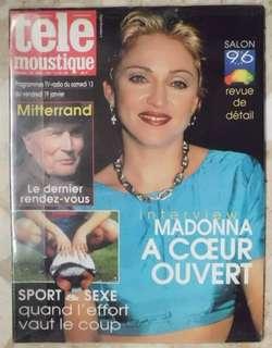 Madonna Tele Moustique 1996 Magazine Elle vogue bazaar GQ