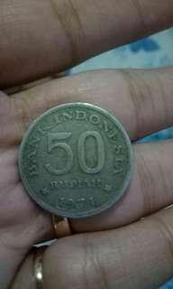 Uang 50 perak tahun 71