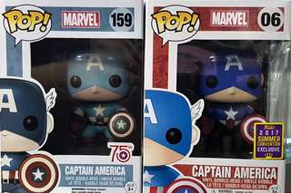 Funko pop Marvel Captain America #06 & #159