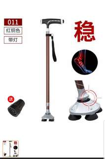 Walking stick with 4 small toes for seniors - free delivery
