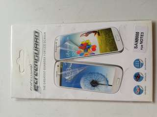 Screen protector Samsung note 3