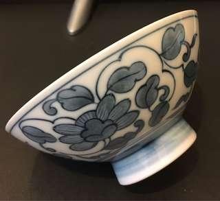 80年代日本制造手繪花碗