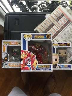 Assorted Marvel Funko Pops