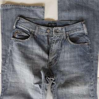 Retro Armani Jeans, Vintage Design, Rare Giorgio Armani Designer Denim Jeans, Made in Italy, Authentic, Street Fashion, So Stylish, so Chic, so Fashionable, Emporio Armani, AJ on back, Seasoned, Rugged, Collectables