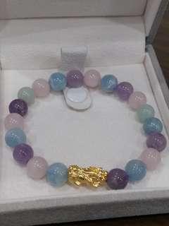 🚚 紫摩根石+黃金貔貅(女款)