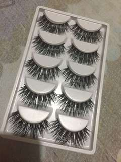 3D Mink False Eyelashes Set (5 Pairs)