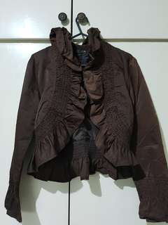 CLN brown fashionable top (M)