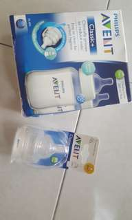 Avent Feeding Bottle Classic , 9oz/260ml 2 bottles + 2 0m+ and 2 1m+ teats