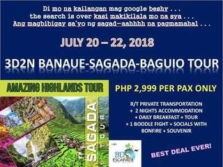 3D2N Banaue-Sagada-Baguio Tour