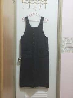 🚚 正韓牛仔裙裝/黑色
