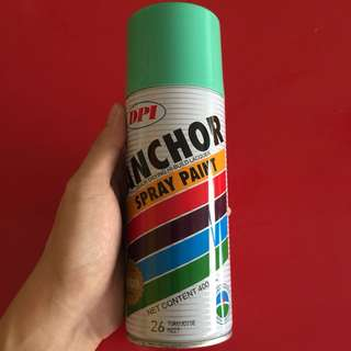 Anchor spray paint turquoise