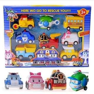 Robocar Poli mini figurines 8 pieces (PO)