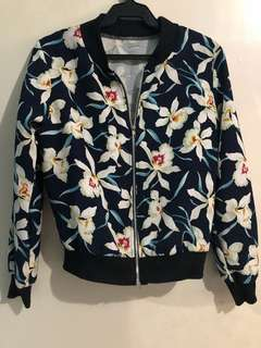 Floral Bomber Jacket (XS-S)