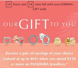 Pandora Sale ends 11/06/2018