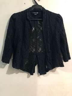 Forever 21 Black Lace Blazer (XS-S)