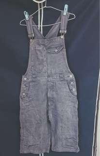 Vintage 古著 大口袋 吊帶褲 工裝