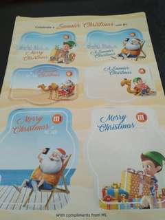 BN Christmas stickers