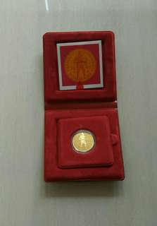 Netherlands 1986 Gold Proof Ducat Complete With Case And COA.